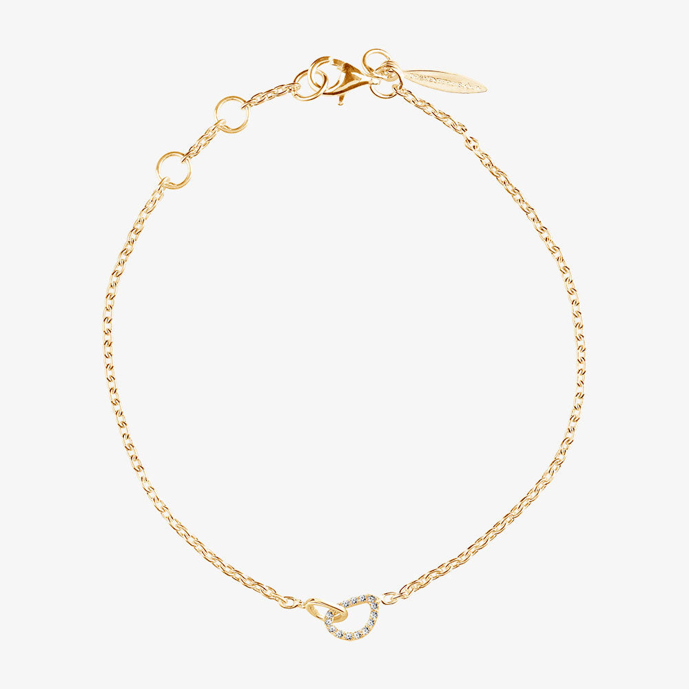 Together Drop Bracelet Diamonds Gold
