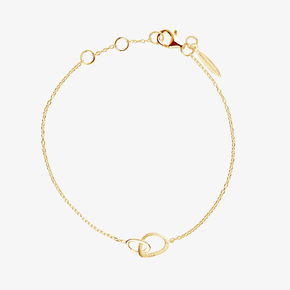 Together Drop Bracelet Gold