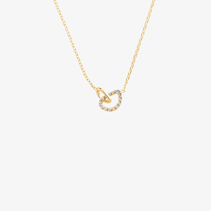 Together Drop Necklace Diamonds Gold