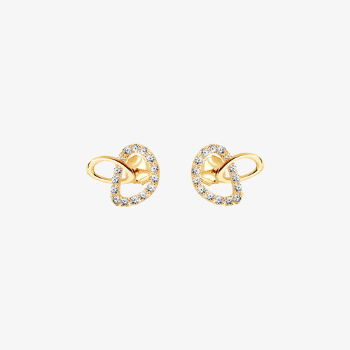Together Drop Studs Diamonds Gold