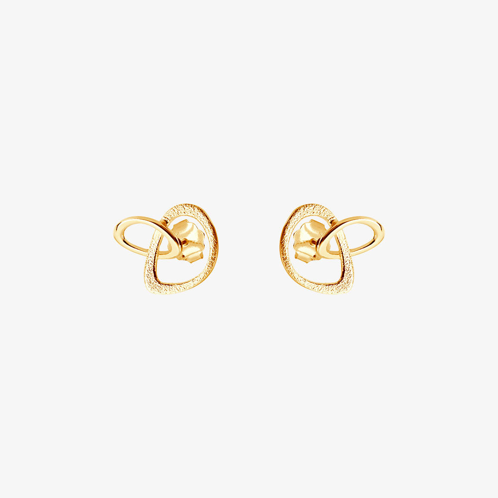 Together Drop Studs Gold
