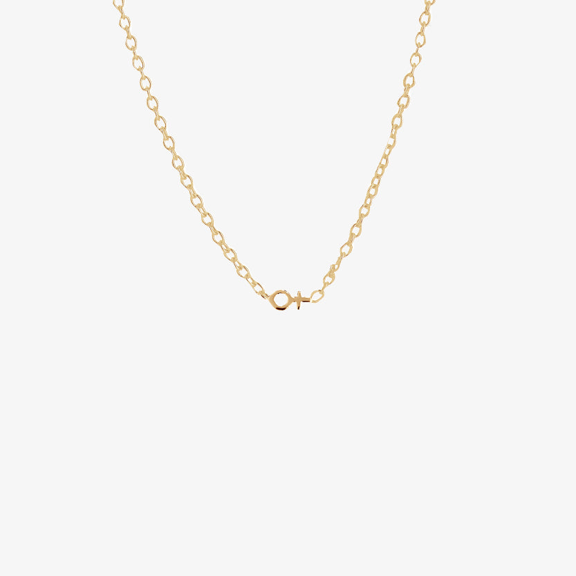 Women Unite Drop Necklace Gold