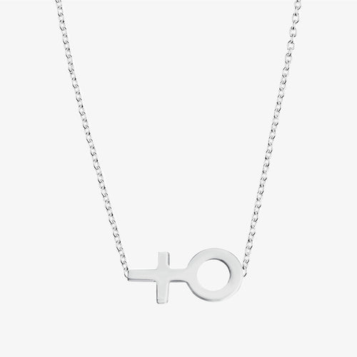 Women Unite single necklace long
