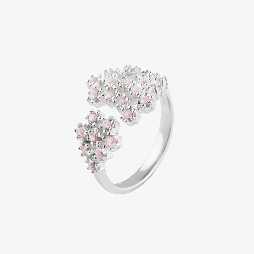 Frost Ring Rose Quartz