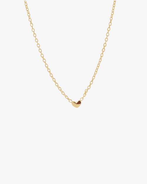 Loving Heart Drop Necklace Gold