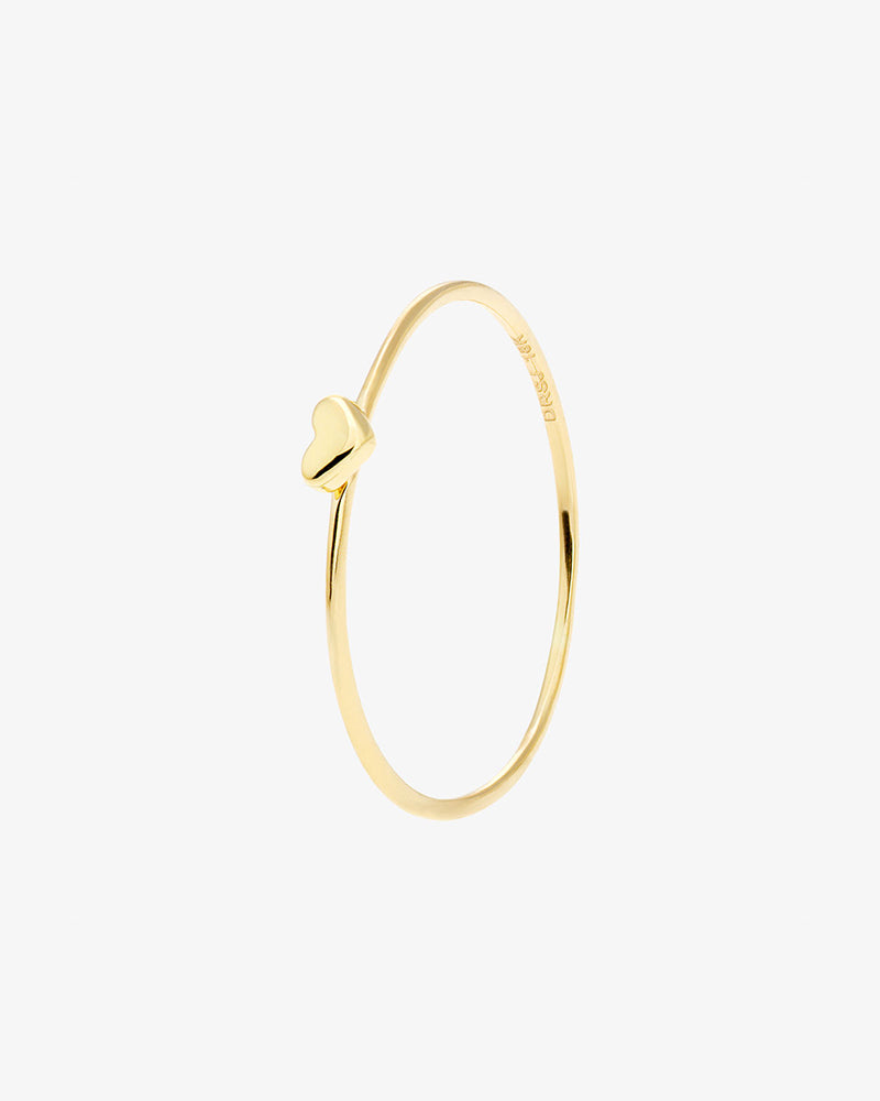 Loving Heart Drop Ring Gold