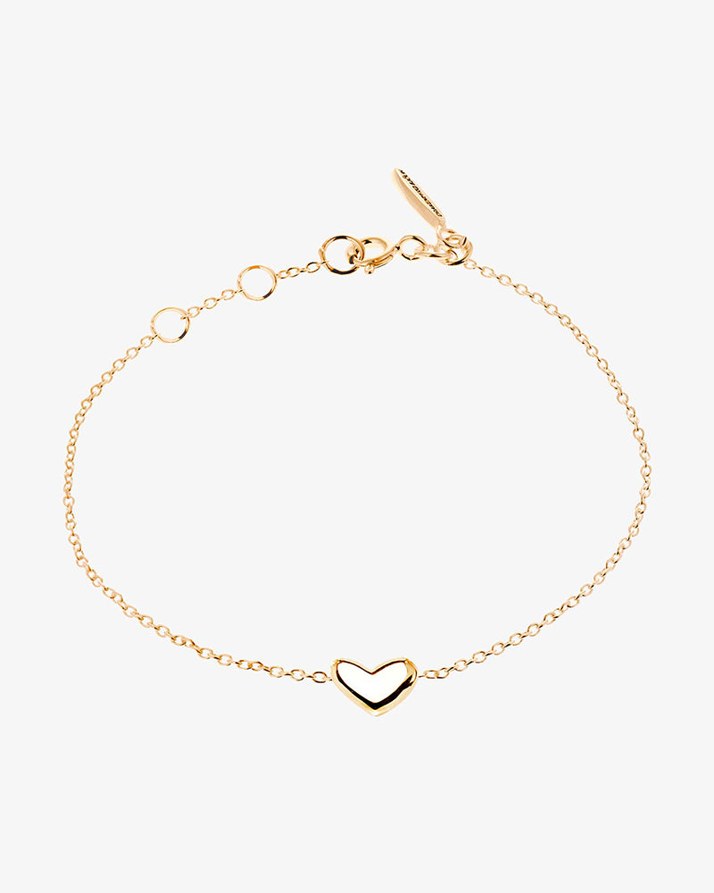 Loving heart medium single bracelet gold