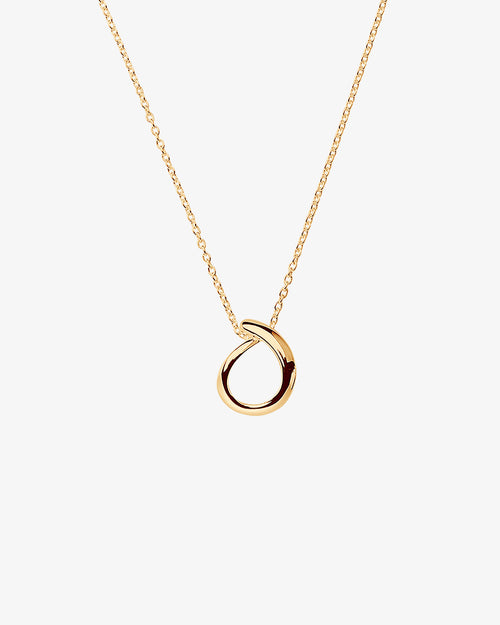 Ocean small single necklace gold
