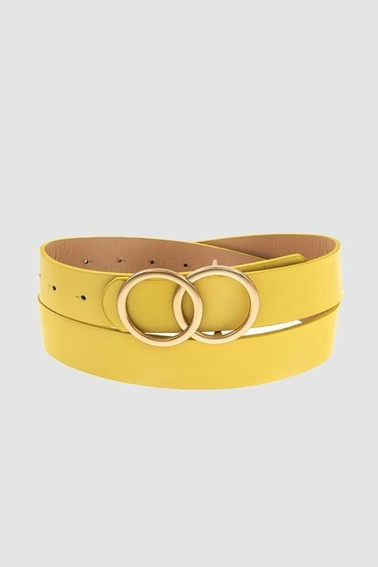 DOUBLE RING BELT - elbie boutique, LLC