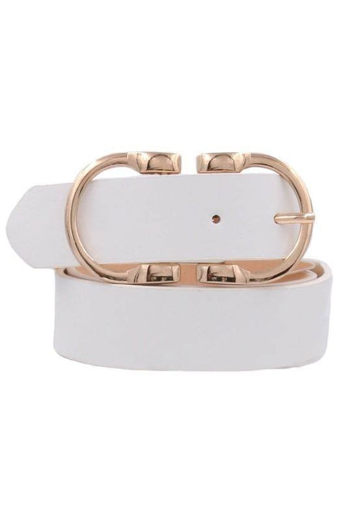 METAL BUCKLE BELT - elbie boutique, LLC