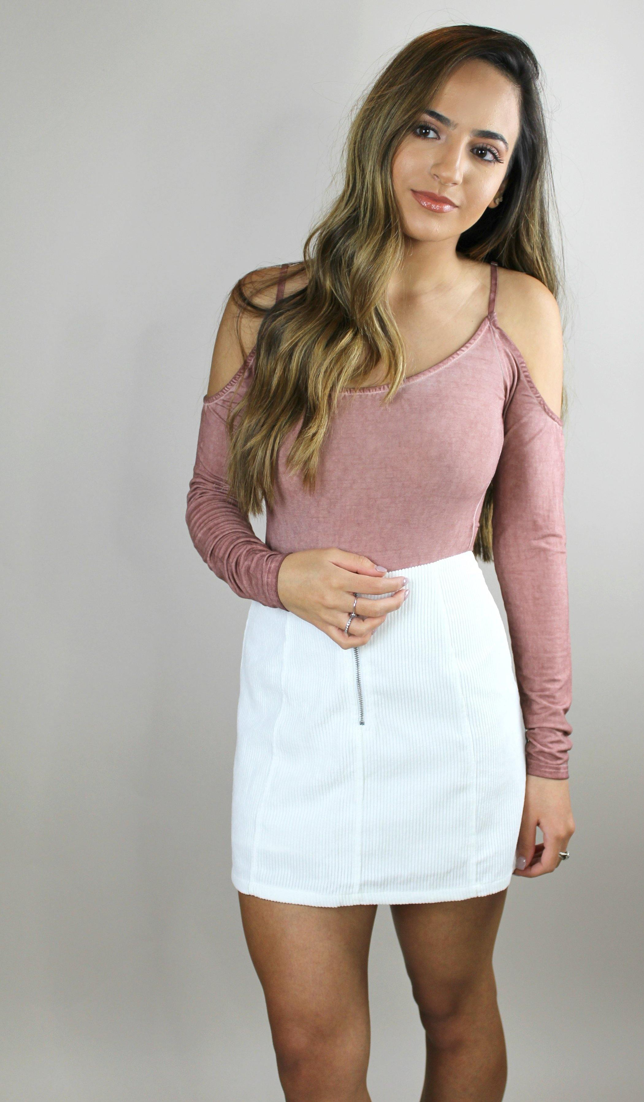 SELENA BODYSUIT (BLUSH) - elbie boutique, LLC