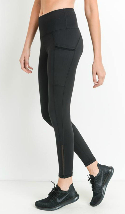 BLACK LEGGINGS - elbie boutique, LLC