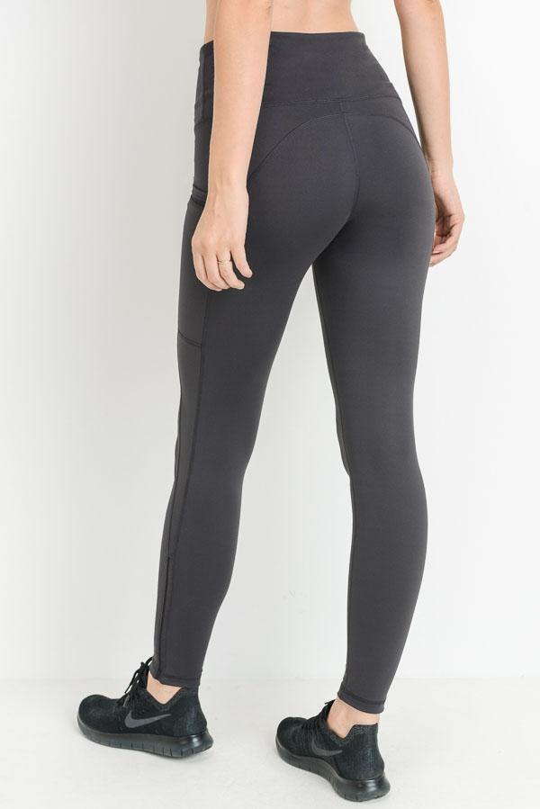 GREY LEGGINGS - elbie boutique, LLC