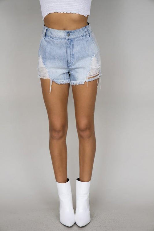 Darby Distressed Denim Shorts