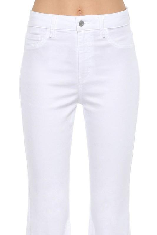 Fab Fringe White Denim Jeans