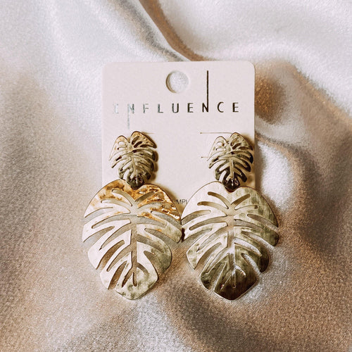 INFLUENCE LEAF EARRINGS