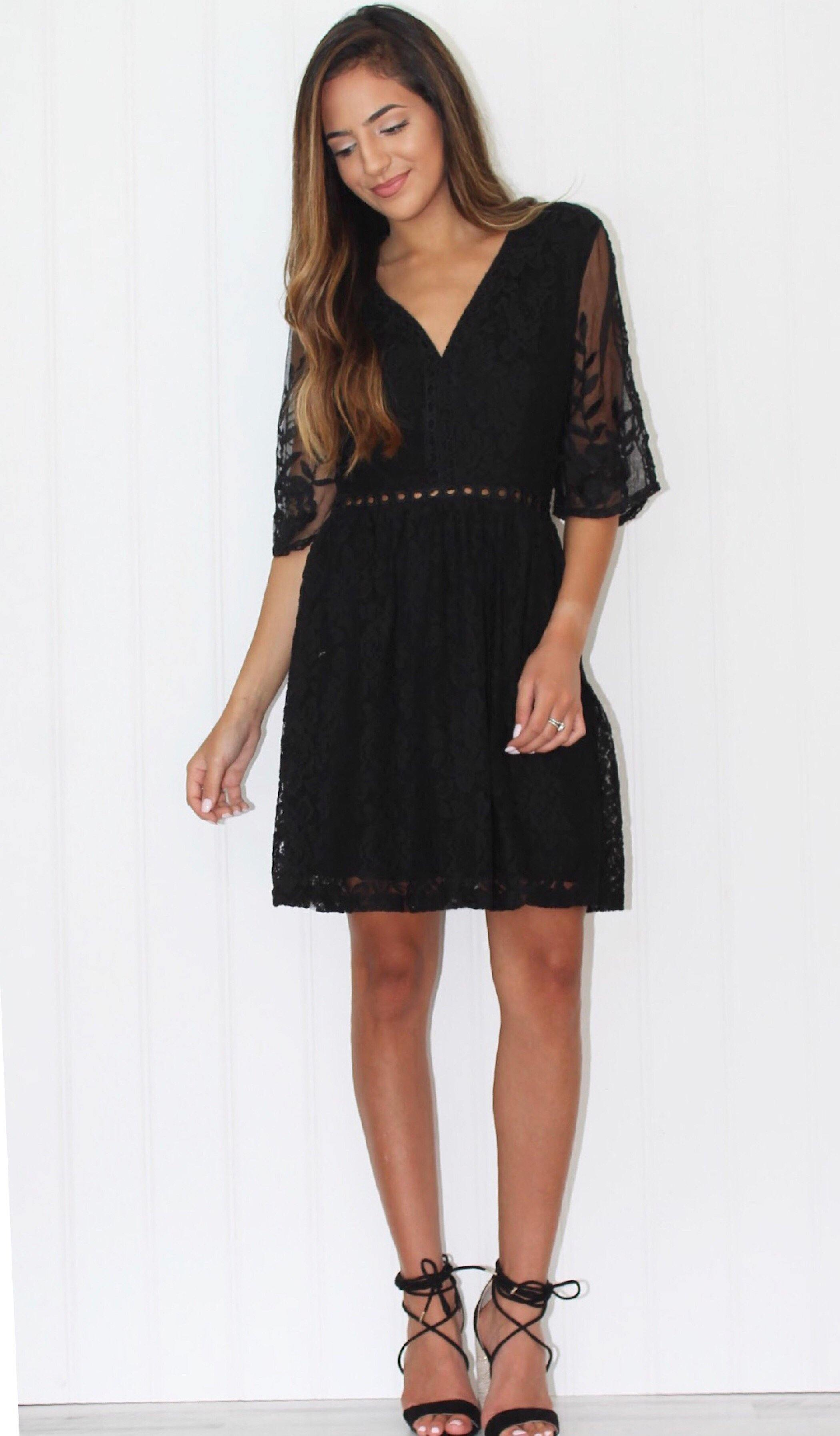 CHARLOTTE LACE DRESS - elbie boutique, LLC