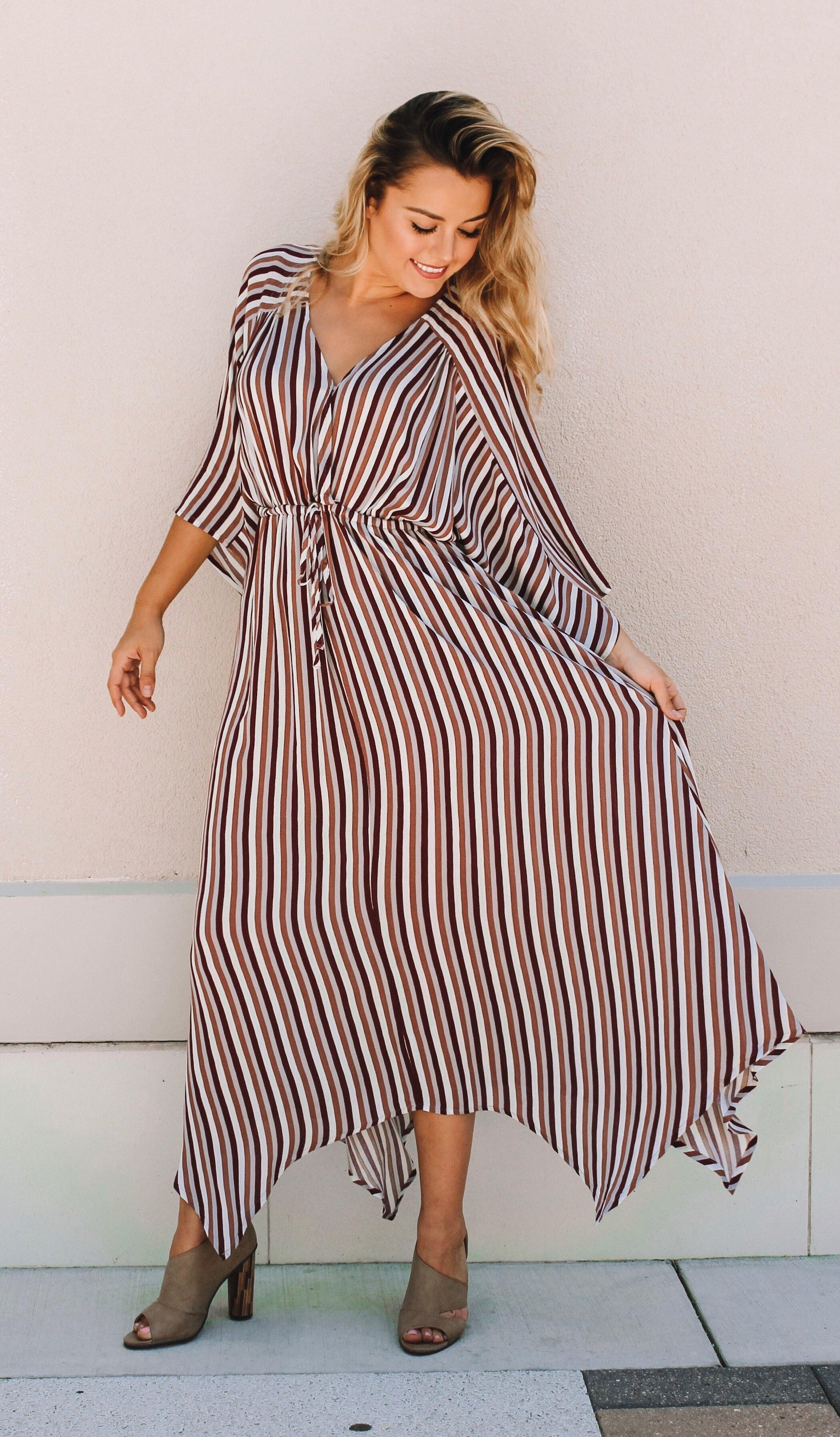 CAMBREE STRIPE DRESS - elbie boutique, LLC