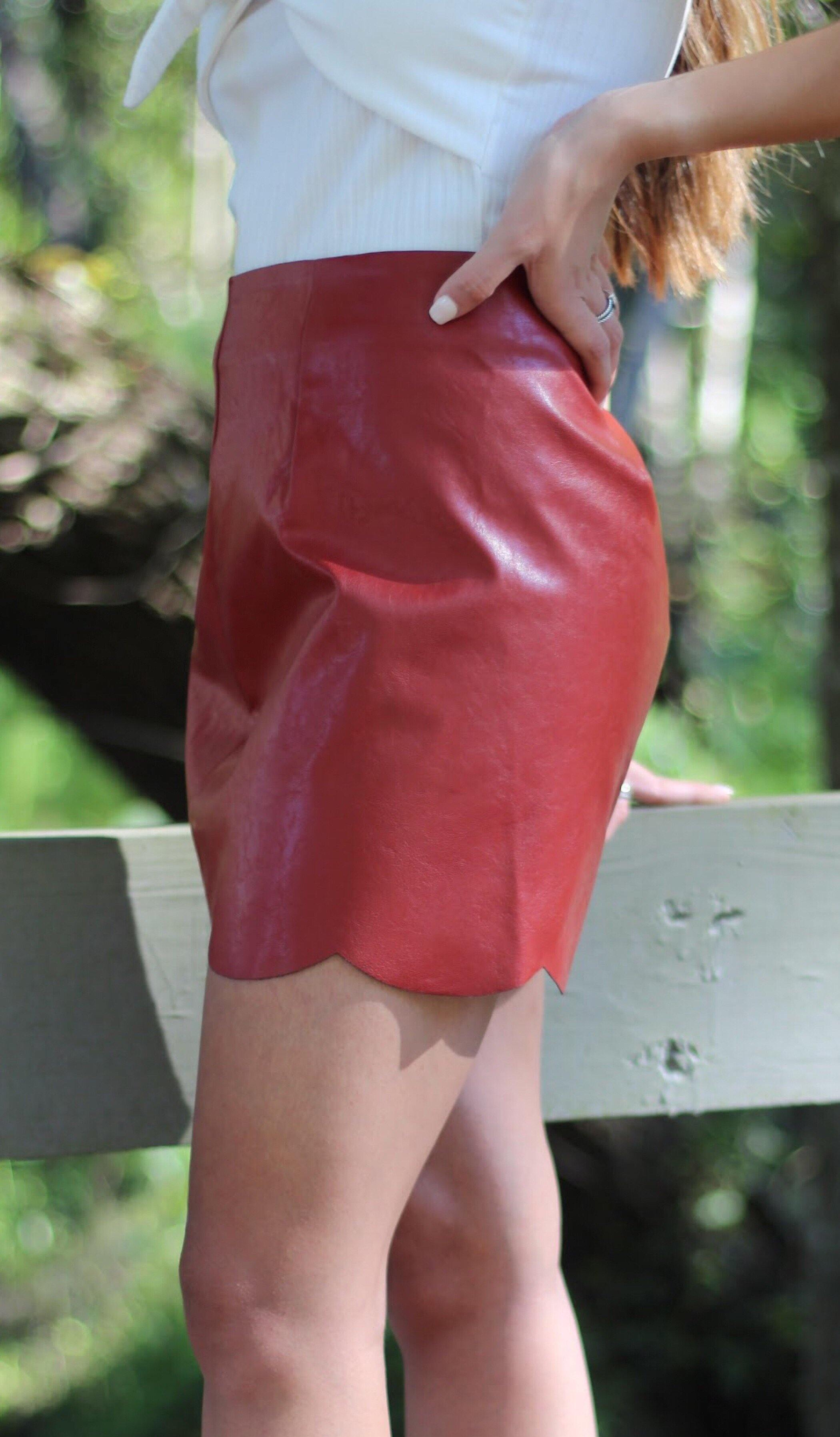 EVA LEATHER SKIRT - elbie boutique, LLC