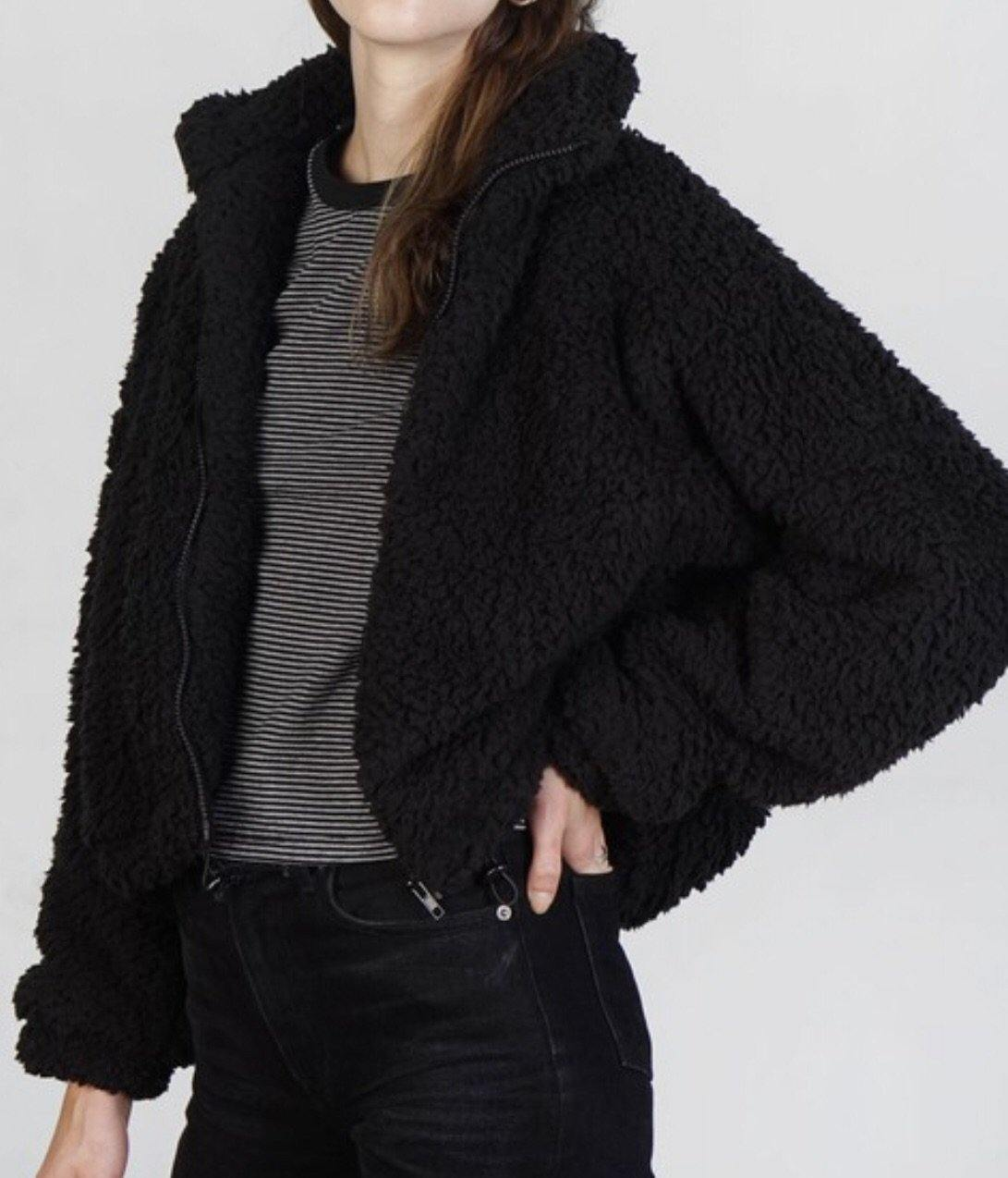 TENLEY SHERPA JACKET - elbie boutique, LLC