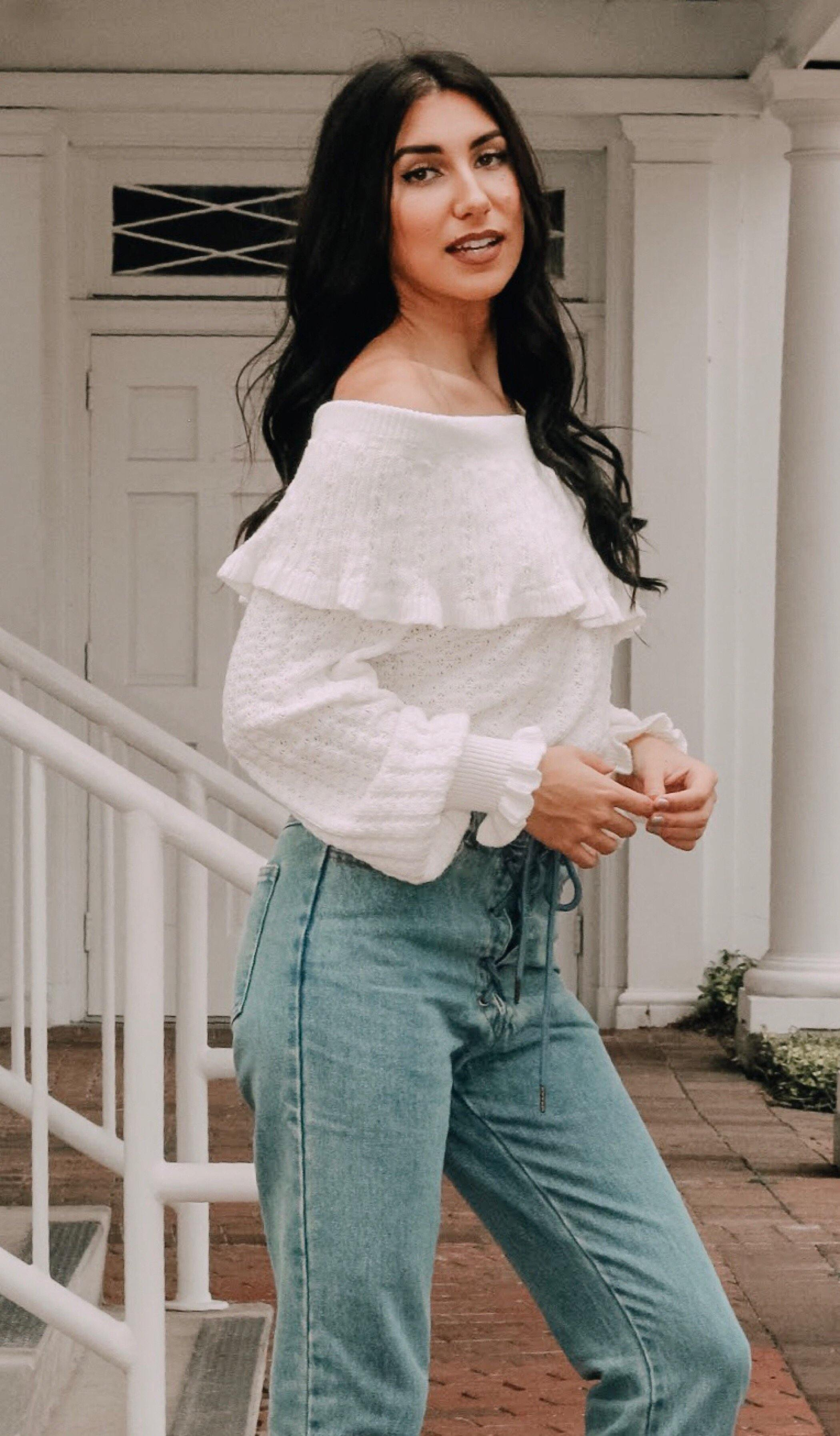 LUISA OFF SHOULDER SWEATER