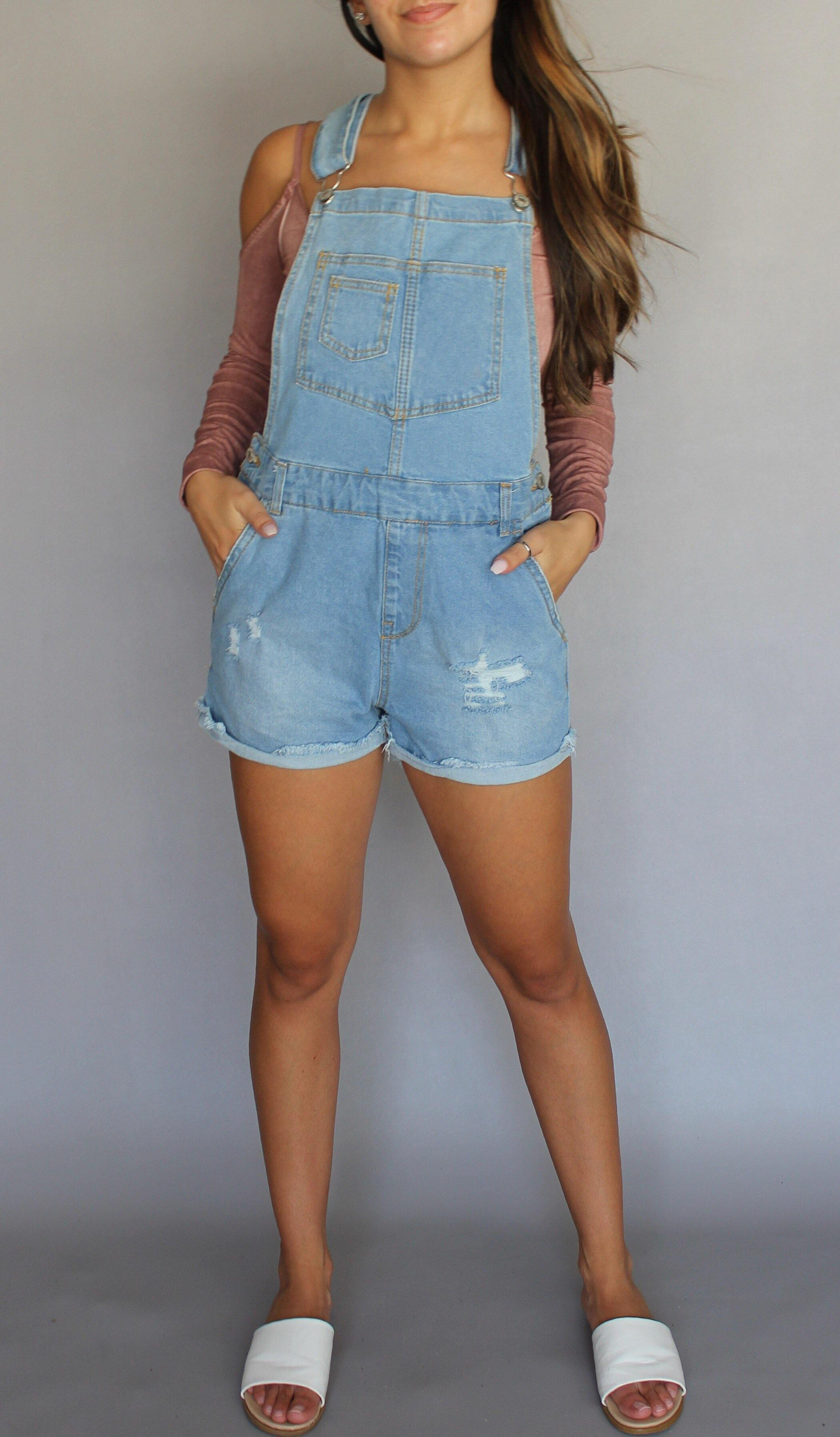 DARBY DISTRESSED OVERALLS