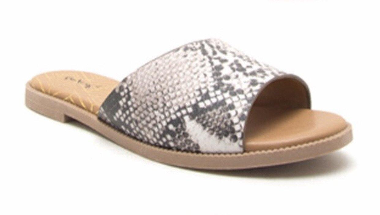 SNAKE PRINT SLIDE SANDALS - elbie boutique, LLC