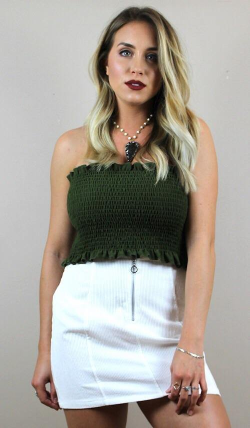 ASHLYN TOP (OLIVE) - elbie boutique, LLC