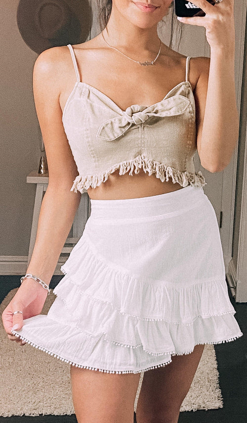 So Chic Ruffle Skirt