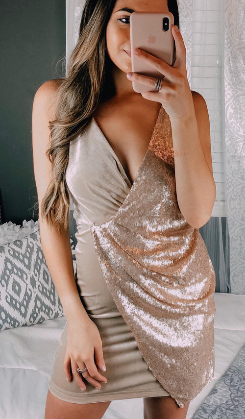 ELISE SEQUIN DRESS