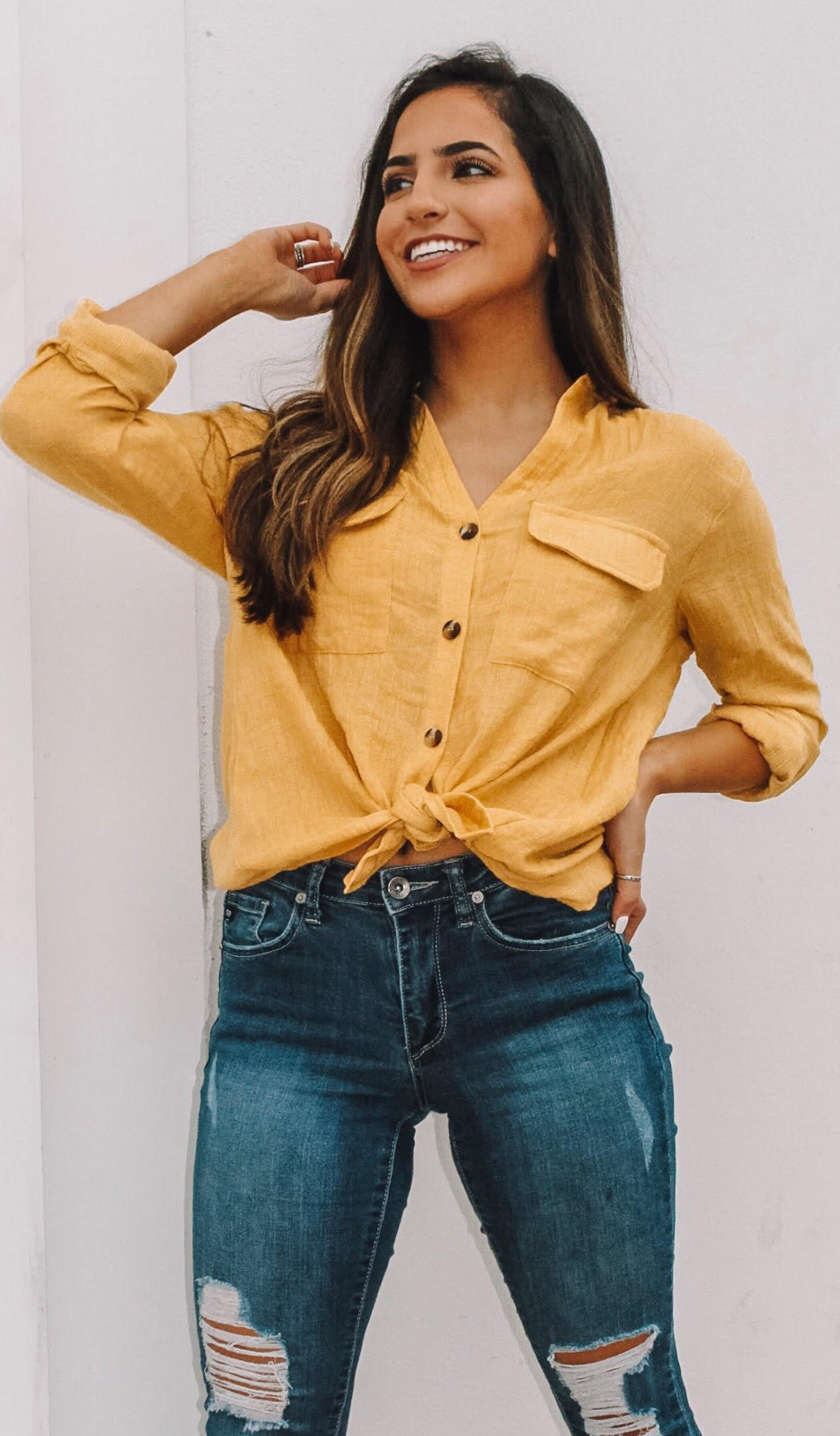 CHARLESTON BUTTON DOWN TOP - elbie boutique, LLC
