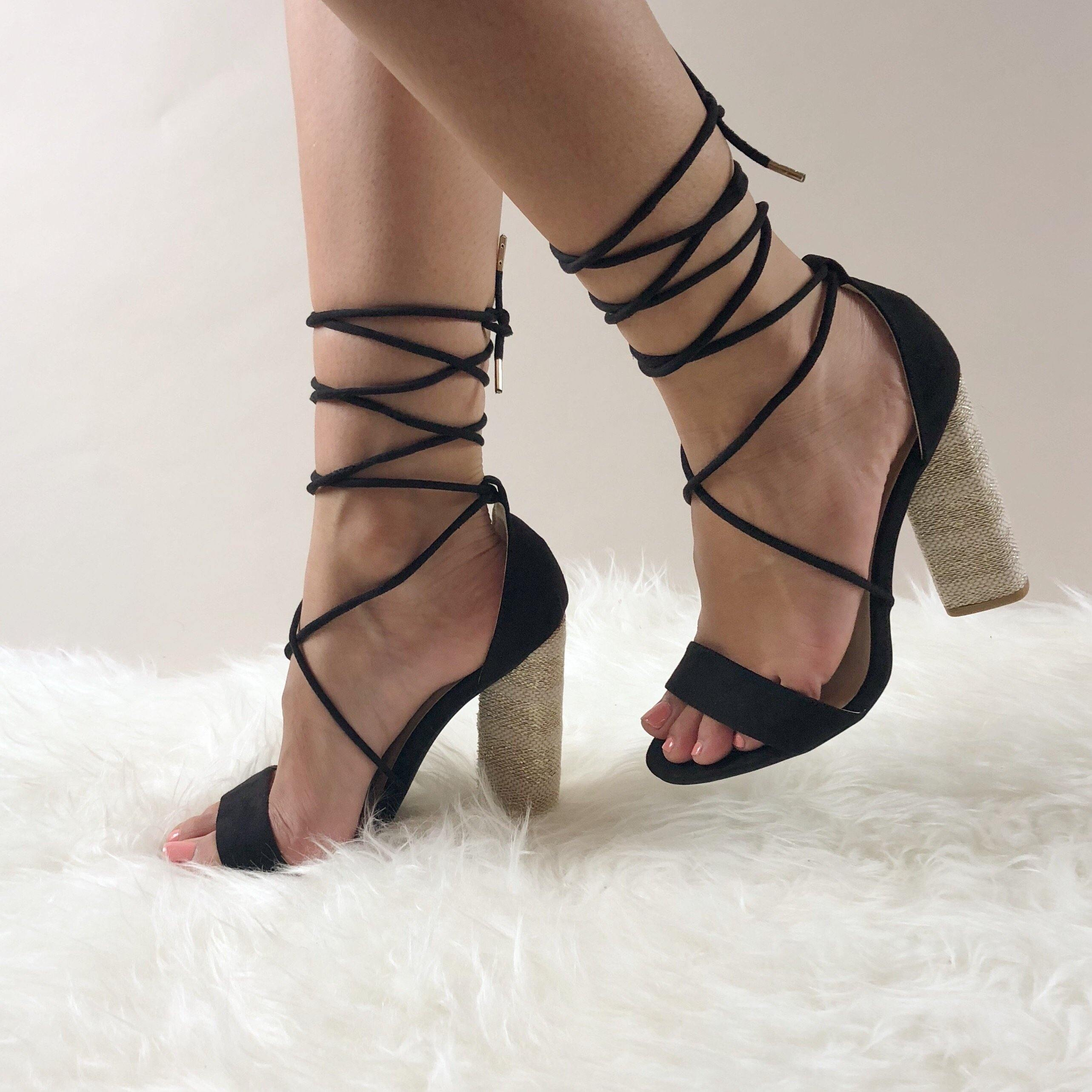 STRAPPY SUEDE HEELS - elbie boutique, LLC