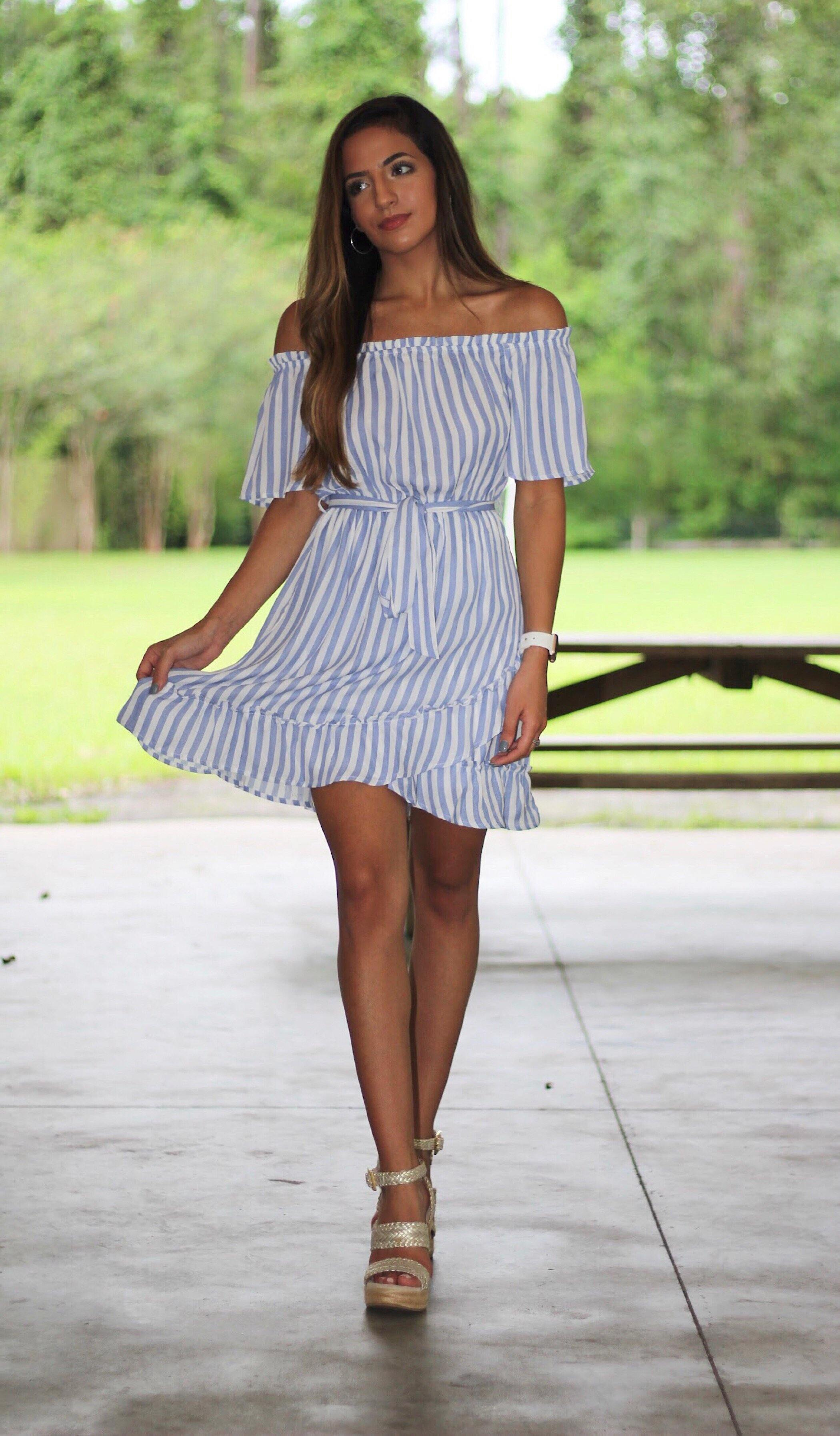 SHAY STRIPED DRESS - elbie boutique, LLC