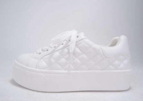 LACEY QUILTED PLATFORM SNEAKERS - elbie boutique, LLC
