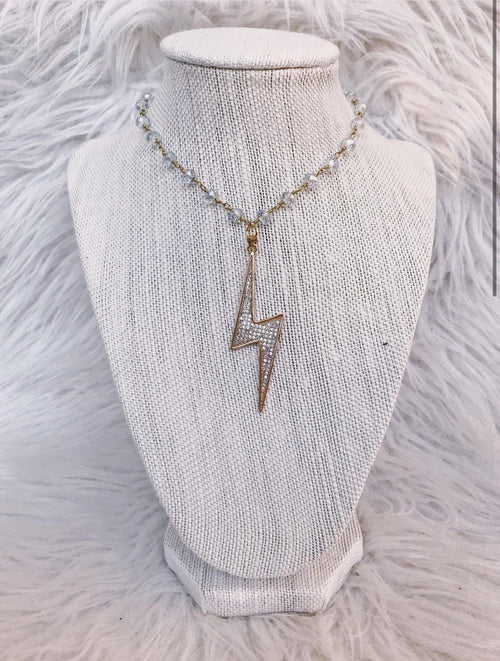 RAW & REBELLIOUS YOUNG SPARK NECKLACE-GOLD - elbie boutique, LLC