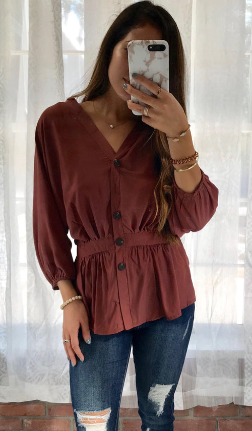 AUTUMN SATIN TOP - elbie boutique, LLC