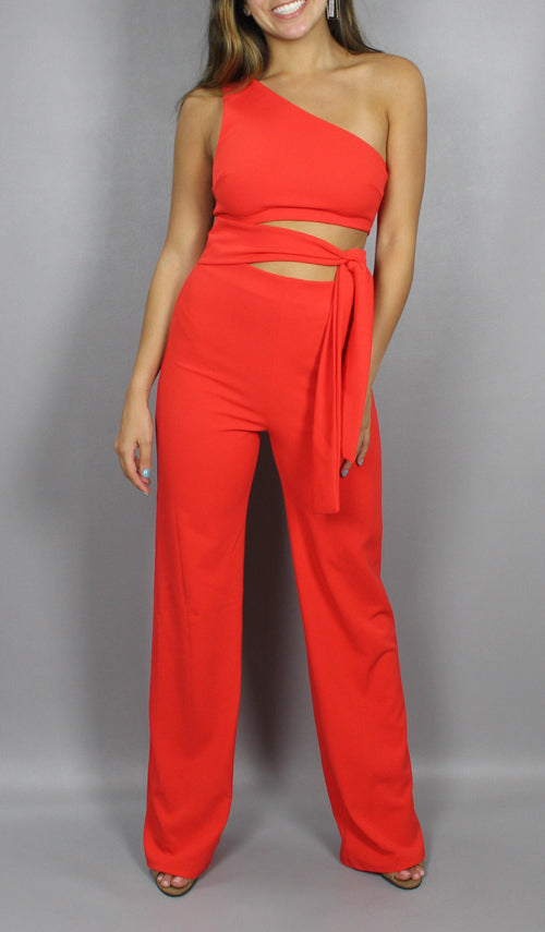 ON THE RISE JUMPSUIT - elbie boutique, LLC