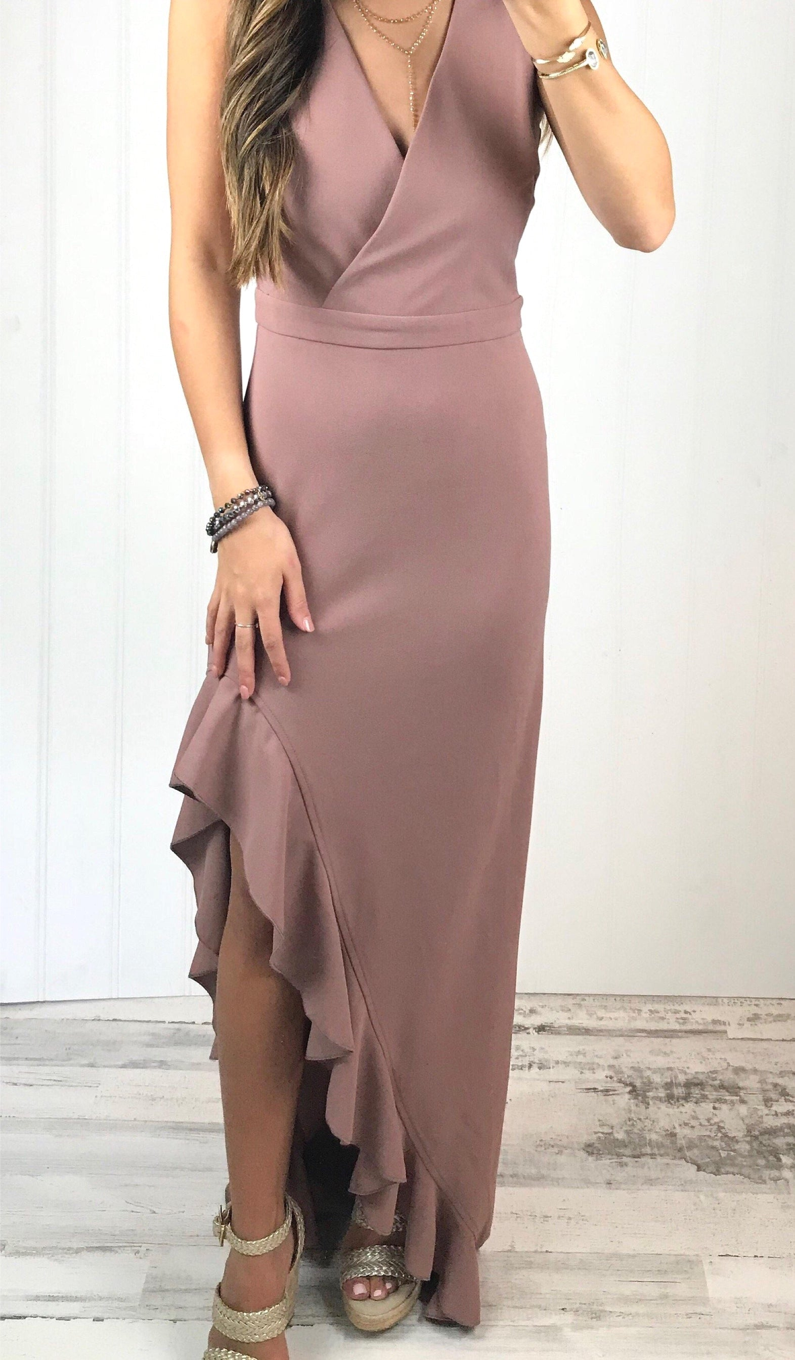 AUBREE MAXI DRESS - elbie boutique, LLC