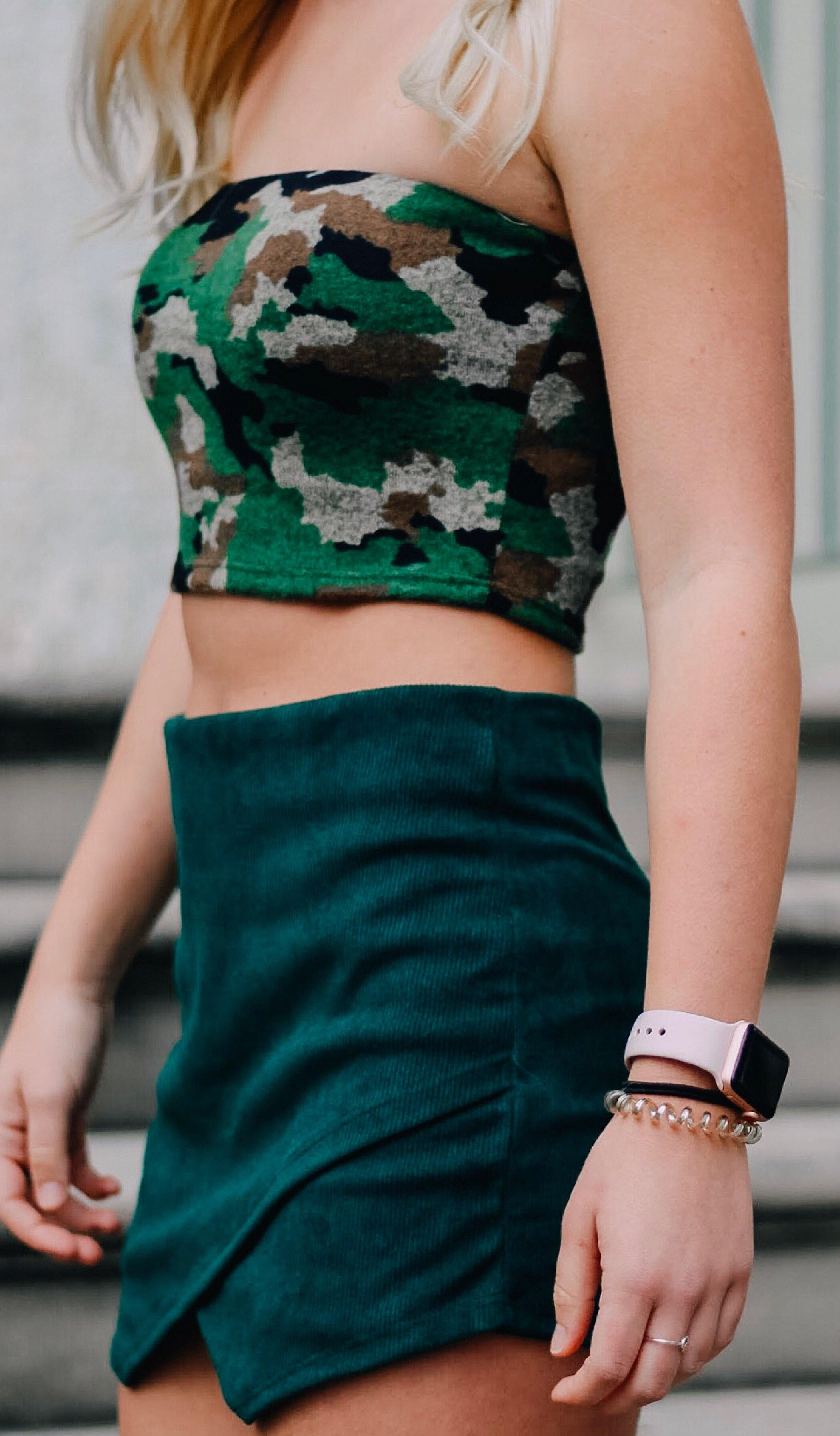 CARMYN CAMO TUBE TOP - elbie boutique, LLC