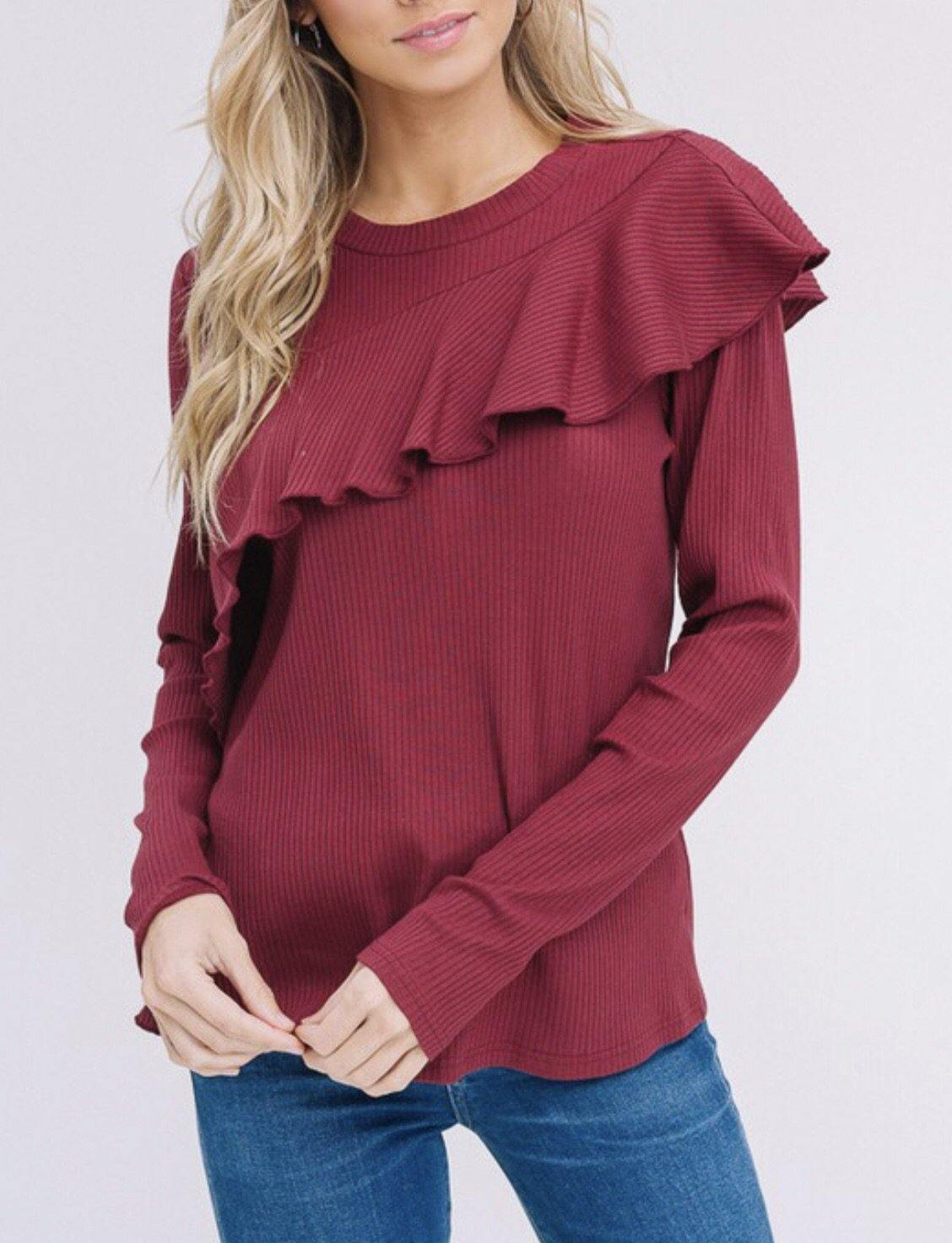 RYANN RIBBED TOP - elbie boutique, LLC