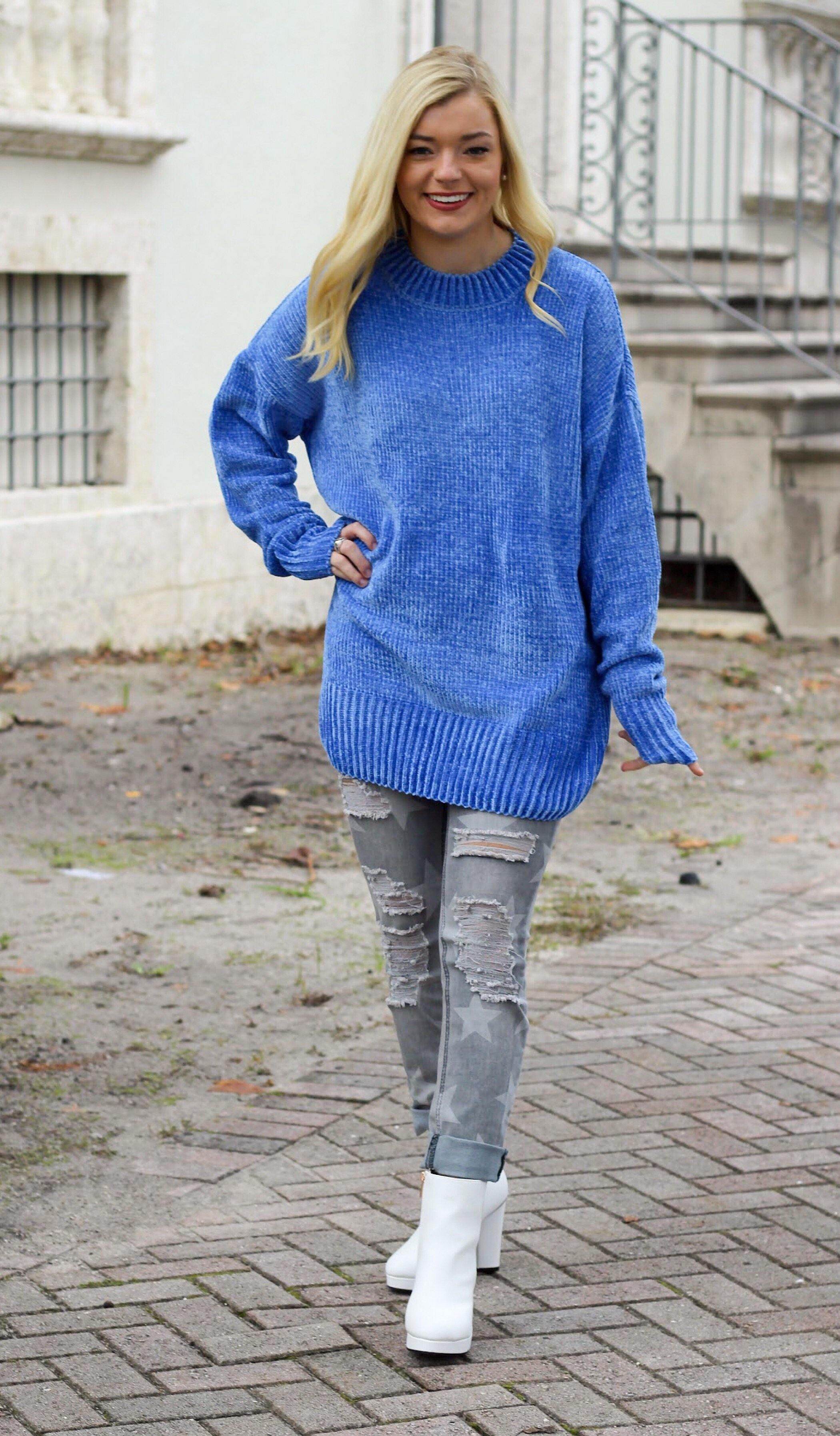 KARLEE OVERSIZED SWEATER - elbie boutique, LLC