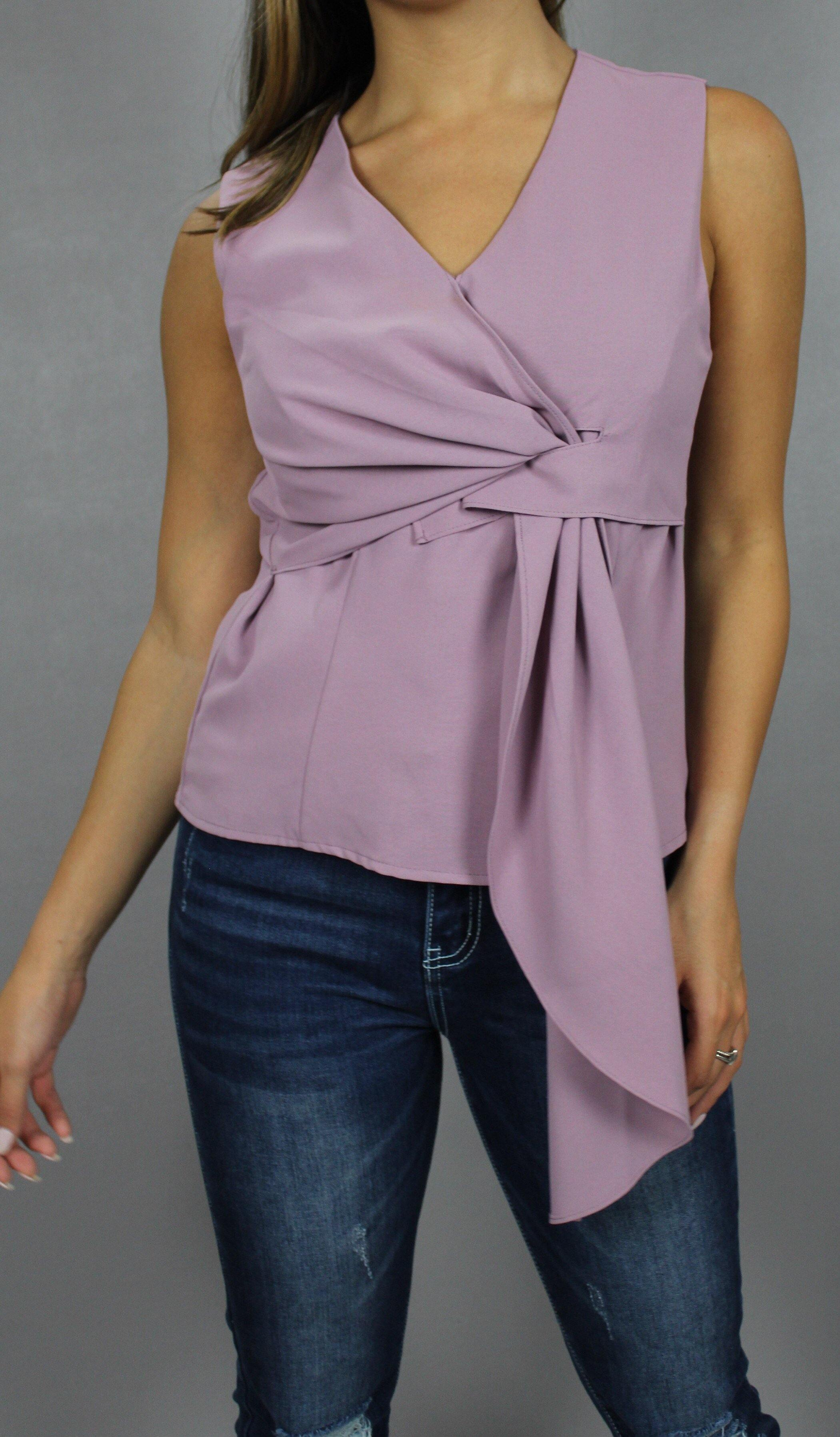 MELODY SLEEVELESS TOP - elbie boutique, LLC