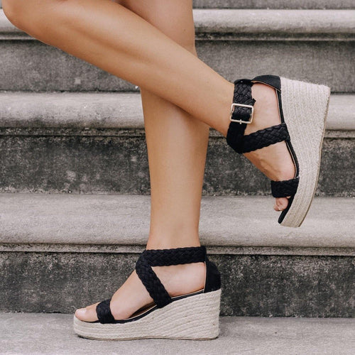 KINSLEIGH WEDGE ESPADRILLES - elbie boutique, LLC