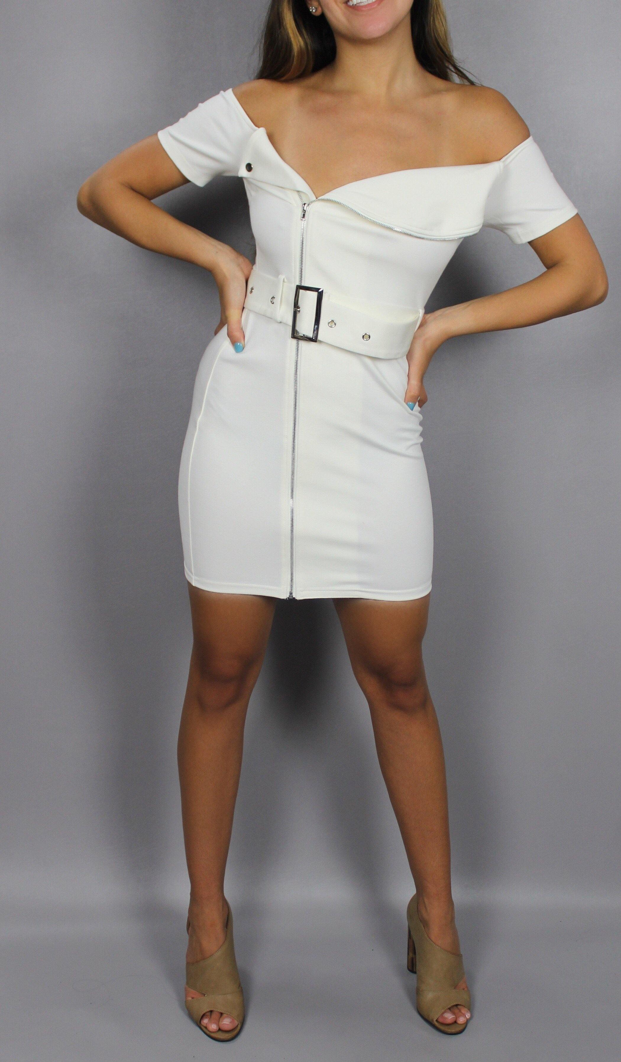 CITY LIGHTS BELTED DRESS