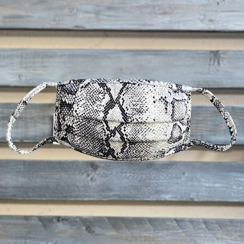 SNAKE PRINT MASK - elbie boutique, LLC