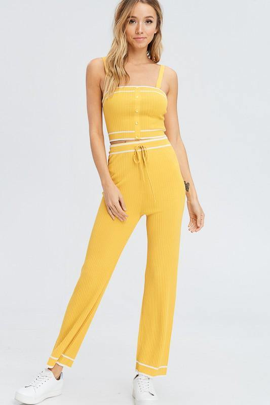 FOR YOUR WELLNESS LOUNGE PANTS - elbie boutique, LLC