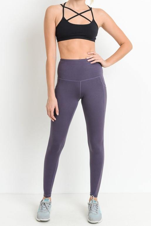 PURPLE LEGGINGS - elbie boutique, LLC