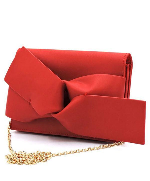 TIE A BOW ON IT CLUTCH (RED)