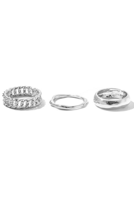 MIXED SILVER RINGS