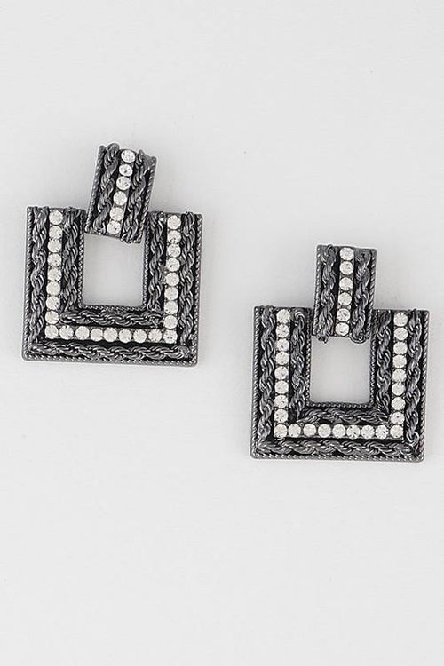 OPEN SQUARE EARRINGS - elbie boutique, LLC